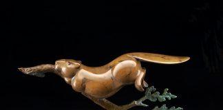 Tim Cherry Beaver Retriever wildlife bronze sculpture