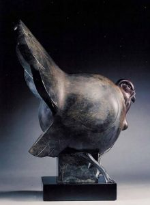 tim cherry butter ball turkey wildlife bronze sculpture