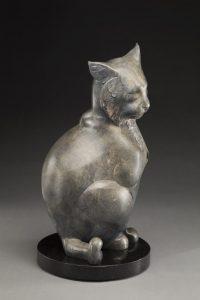 tim cherry cat nap bobcat wildlife bronze sculpture