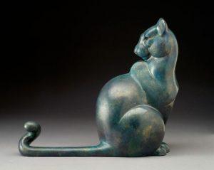 tim cherry fe lion mountain lion wildlife bronze sculpture