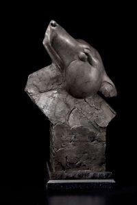 tim cherry free spirit wolf wildlife bronze sculpture