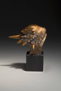 tim cherry horned frog horn lizard bronze wildlife sculpture