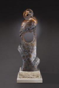 tim cherry house sitter barn owl bronze wildlife sculpture
