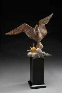 tim cherry joy of flight eagle bronze wildlife sculpture