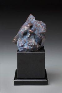 tim cherry pondering owl bronze wildlife sculpture