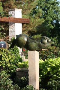 tim cherry rabbit flyer bronze wildlife sculpture