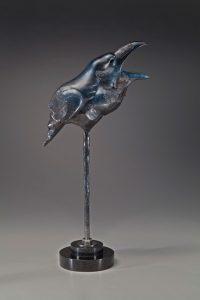 tim cherry ravens caw bronze wildlife bird sculpture