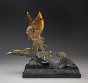 tim cherry salmon resurrection bronze wildlife sculpture