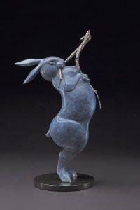 tim cherry willow snipper rabbit bronze wildlife sculpture