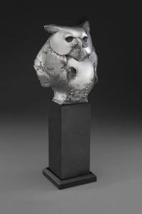 tim cherry wise guy owl bronze wildlife sculpture