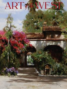 cyrus afsary art of the west magazine cover feature article california mission architecture oil painting