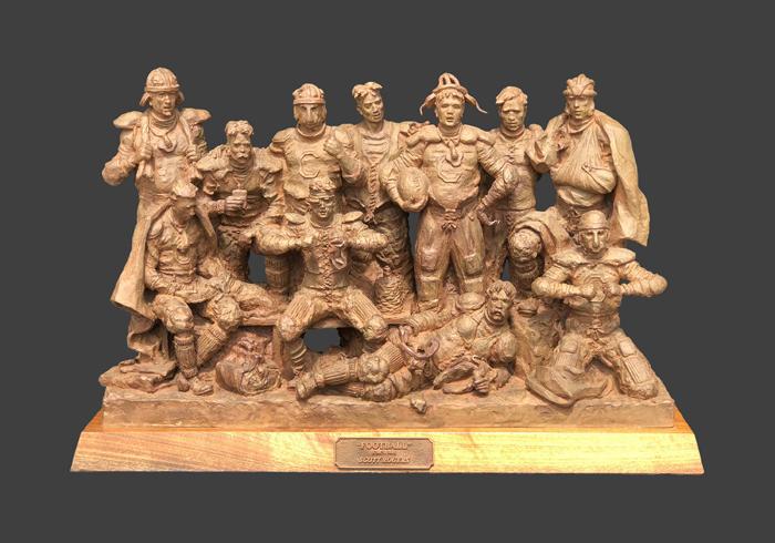 scott rogers football circa 1890 sports football team sculpture bronze
