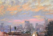 christine lushly twilight libby hill cityscape oil painting