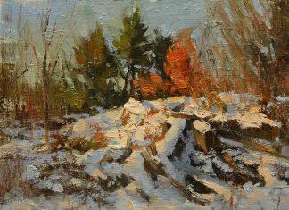 Hsin Yao Tseng Central Park Winter snow landscape New York oil painting