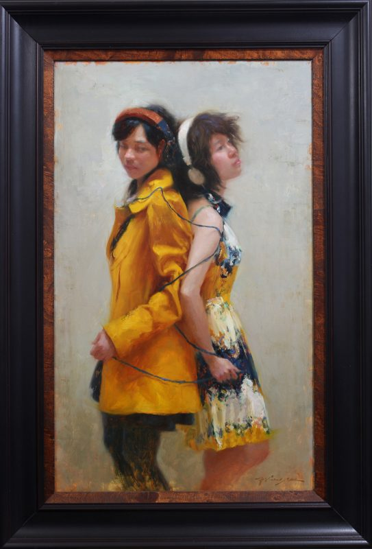 hsin yao tseng control figure figurative girls women girl oil painting