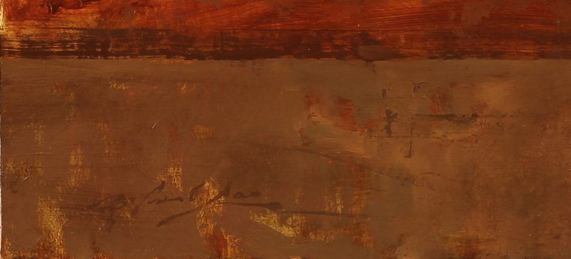 hsin yao tseng guarding corolla oil painting signature