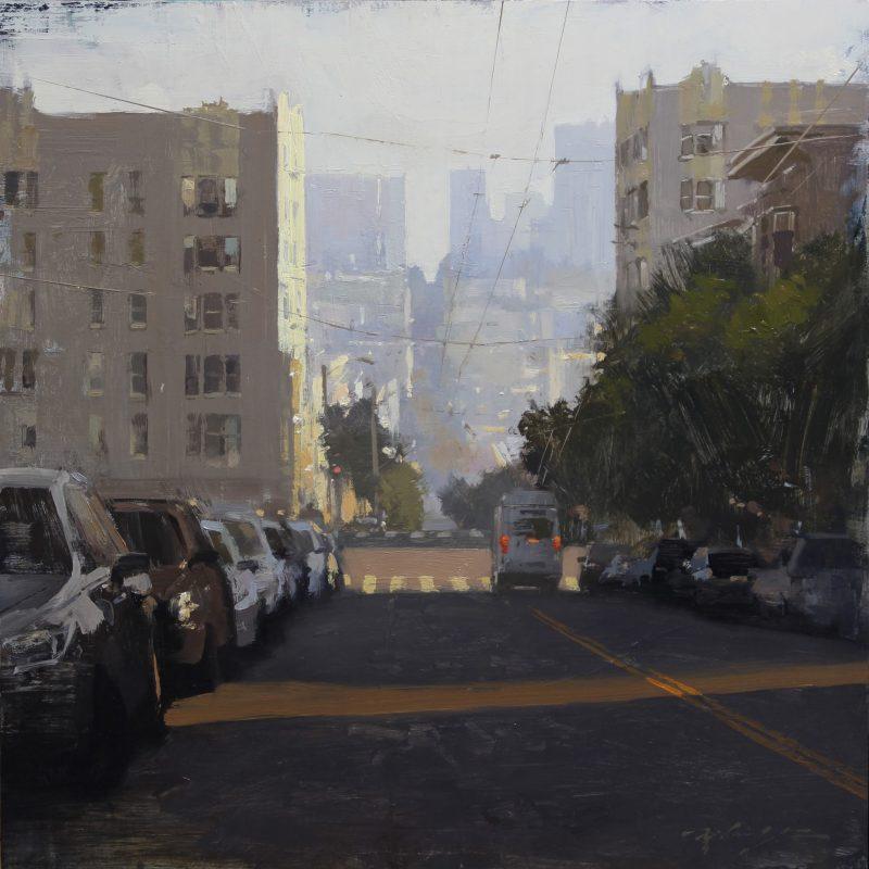 Hsin Yao Tseng Heading To Downtown city cityscape San Francisco California oil painting
