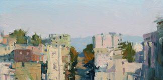 Hsin Yao Tseng North Beach Sunlight city San Francisco California downtown cityscape oil painting