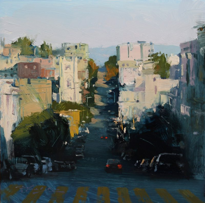 Hsin Yao Tseng North Beach Sunlight city San Francisco California downtown cityscape oil painting
