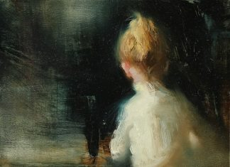 Hsin Yao Tseng The Moment girl portrait figurative oil painting
