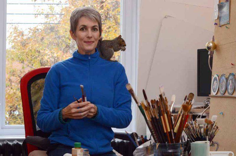 marina Dieul artist art studio squirrel