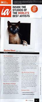 marina dieul magazine article studio artist art