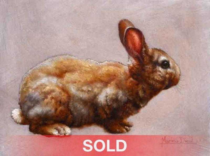 Marina Dieul Historie de Lapin bunny rabbit oil painting wildlife