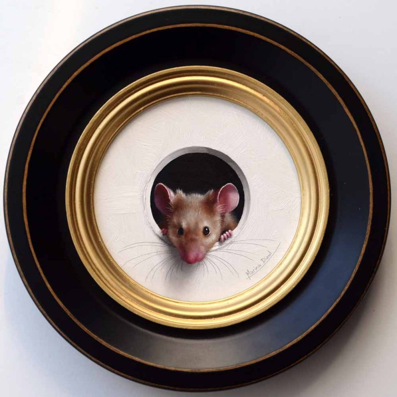 Marina Dieul Petite Souris 479 mouse mice wildlife oil painting