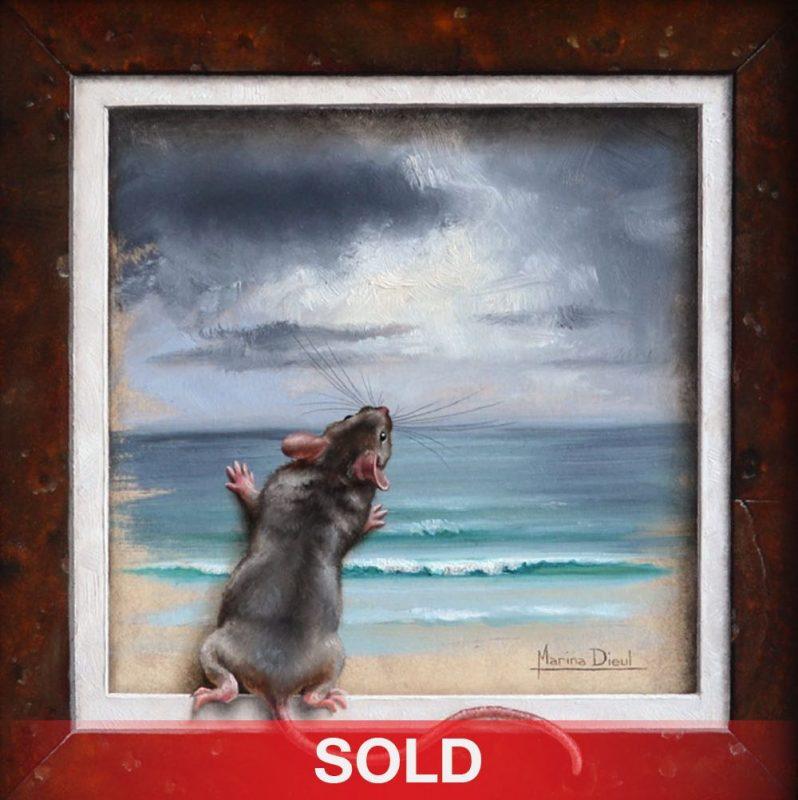 Marina Dieul L'appel du Large mouse ocean sea beach oil painting