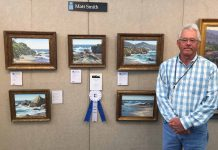 "Matt Smith ""Artists' Choice Award"" winner 20th Annual Laguna Beach Plein Air Painting Invitational seascape landscape oil painting"