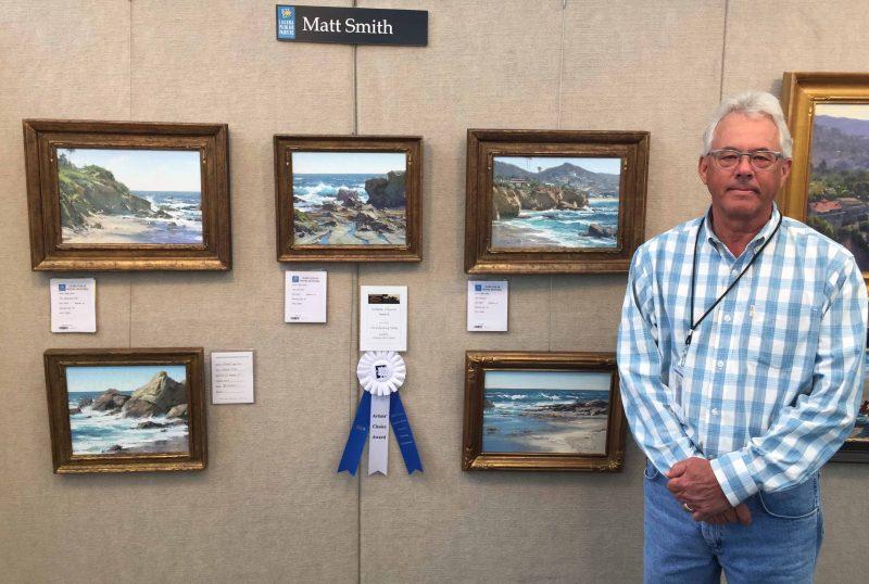 "Matt Smith ""Artists' Choice Award"" winner 20th Annual Laguna Beach Plein Air Painting Invitational seascape landscape oil painting"