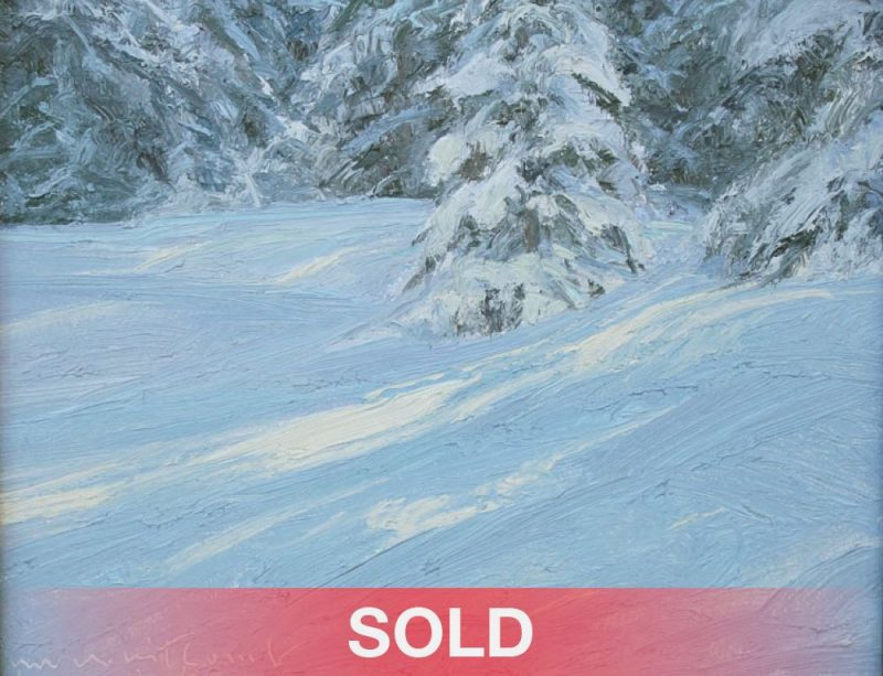 Skip Whitcomb Berthoud Pass Colorado snowy landscape oil painting SOLD