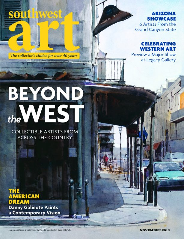 Southwest Art magazine Dean Mitchell Napoleon House cover
