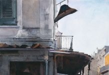 Dean Mitchell Napoleon House watercolor New Orleans