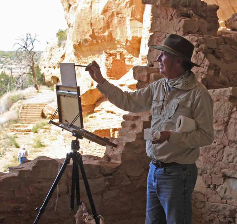 Lorenzo Chavez painting on location artist plein air outdoor