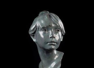 Glenna Goodacre Erica bronze figure bust female woman lady sculpture