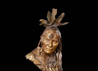 John Coleman Distant Thunder bronze sculpture Native American