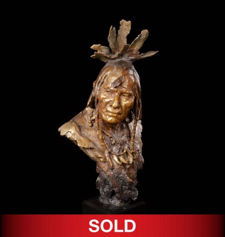 John Coleman Distant Thunder bronze sculpture Native American