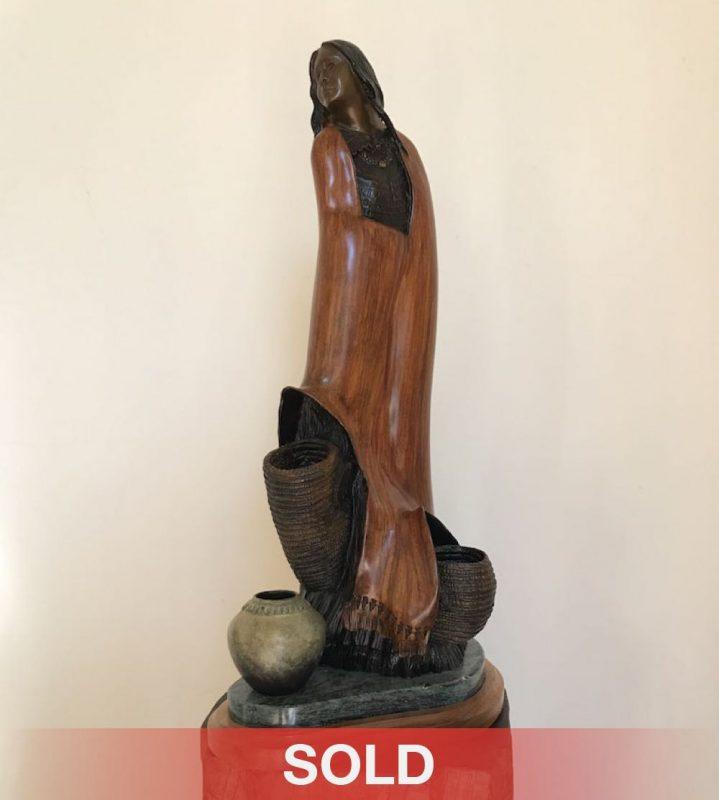 Bob Boomer Native American bronze sculpture western