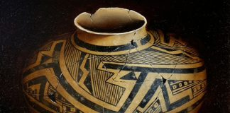 Cheryl English Anasazi pottery Native American oil painting