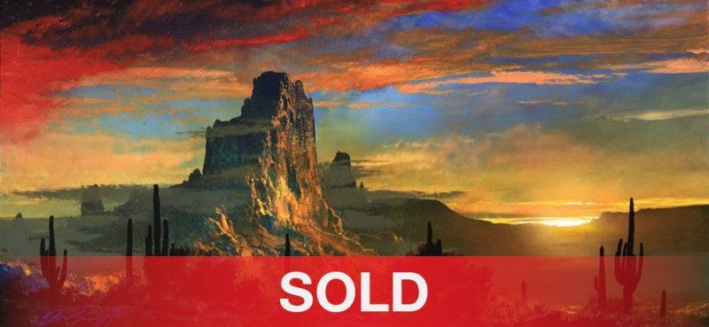 Dale Terbush The Distant Dance western landscape sunrise sunset western acrylic painting sold