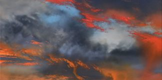 Dale Terbush The Other Side of Forever landscape desert glorwy sky clouds sunset western painting