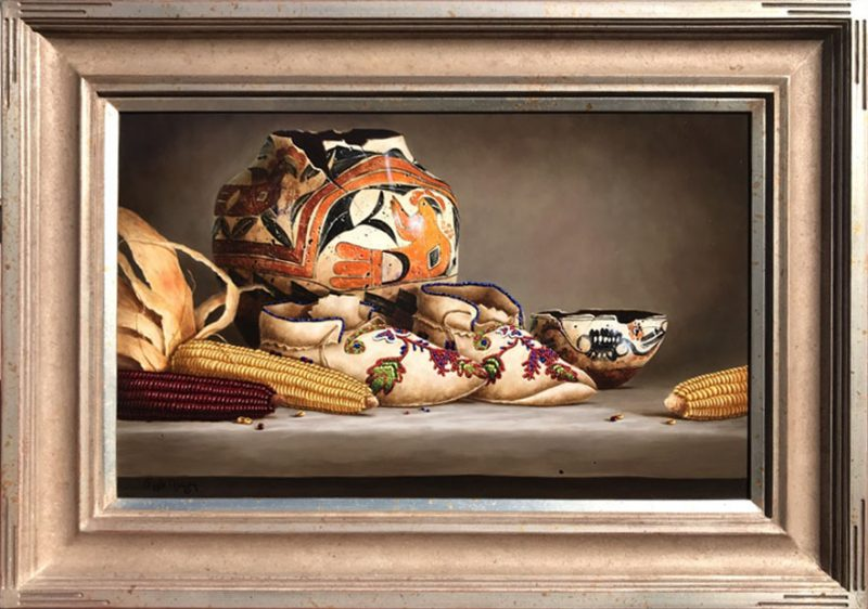 Gayle Nason Kindred Spirit original oil painting Native American framed