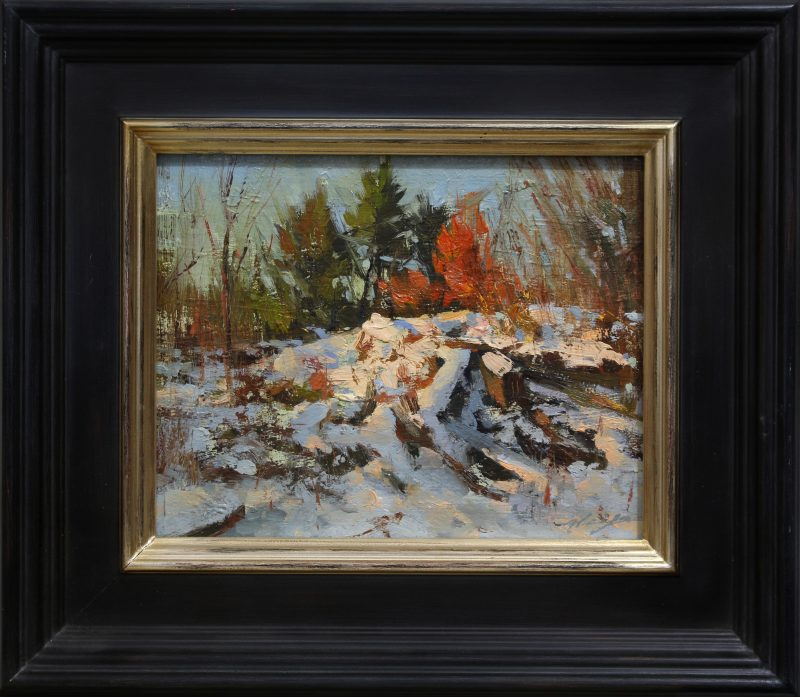 "Hsin-Yao Tseng ""Central Park Winter"" snow landscape oil painting New York City"
