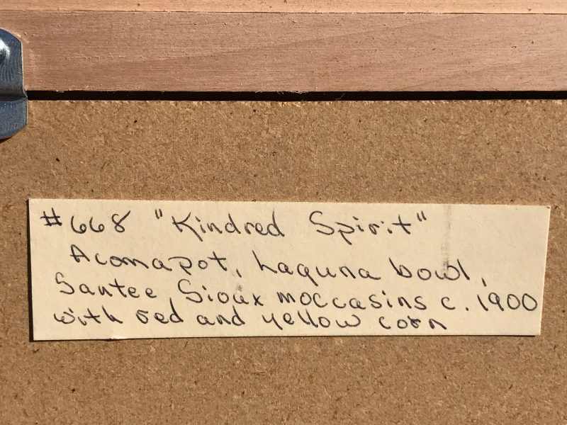 Gayle Nason Kindred Spirit original oil painting note back of painting