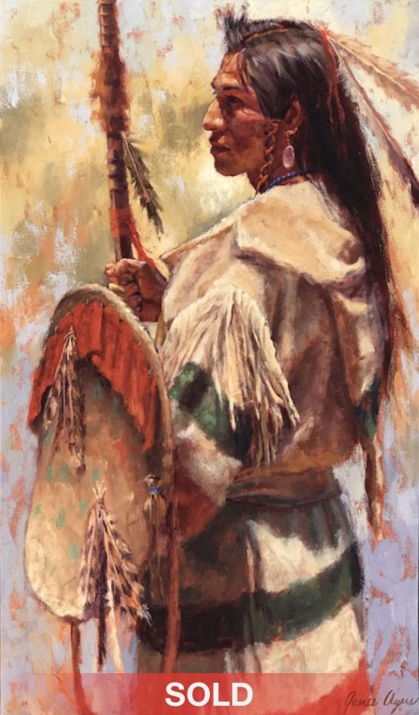 James Ayers Proud One Native American western oil painting