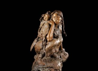 "John Coleman ""Into The Unknown"" Native American bronze sculpture"