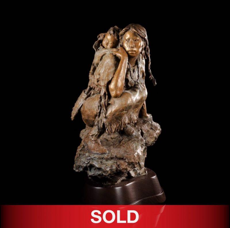 "John Coleman ""Into The Unknown"" Native American bronze sculpture"