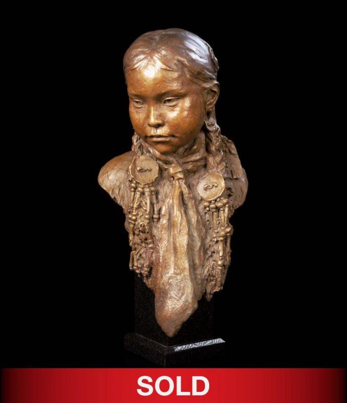 John Coleman Summer Blossom Joe Native American sculpture