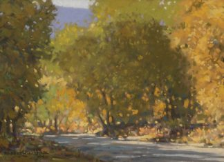"Robert Knudson - ""Early Autumn Oak Creek Canyon"""